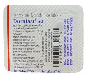 Backside of a Duralast blister pack