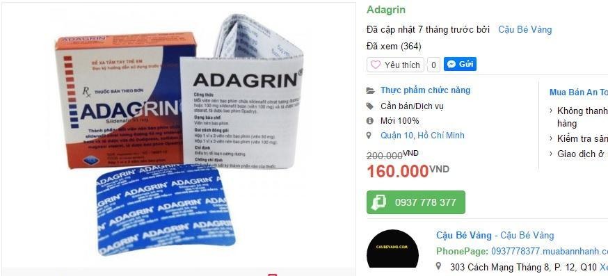 Adagrin can be found online on a couple of Vietnamese sites