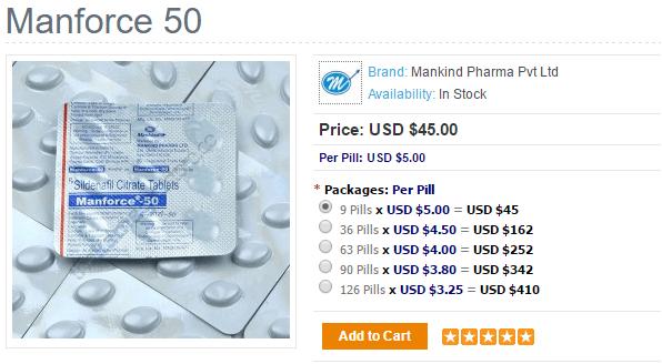 Manforce Prices