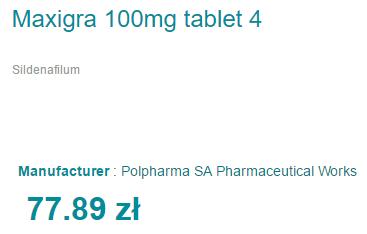 Maxigra 100 mg Cost
