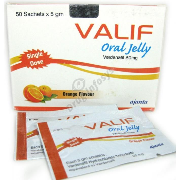 Valif Oral Jelly 20mg Review: Powerful and Quick Anti-Erectile Agent