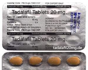 Tdafilafil Tablets 20 mg