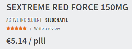 Sextreme Redforce 150 mg Pill Price