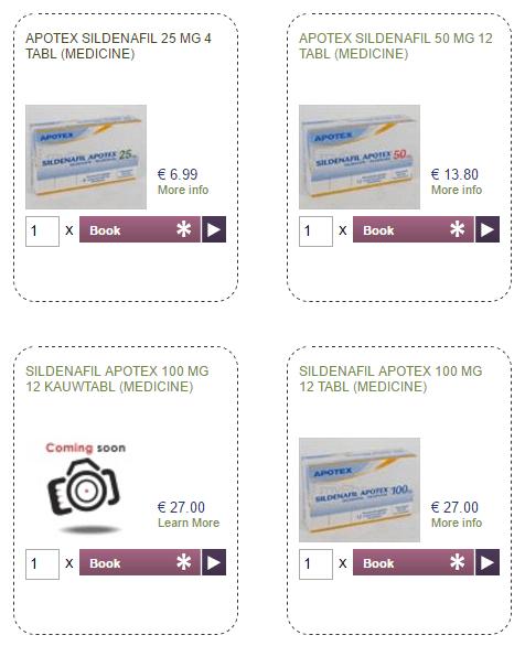 Sldenafil Apotex Pricing