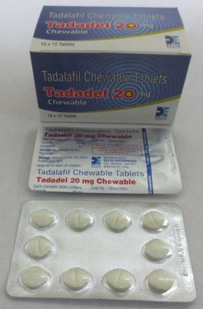 Tadadel Chewable 20mg Review: Unapproved Form of Tadalafil