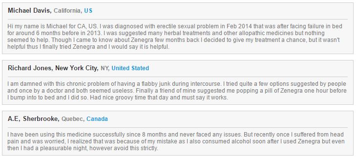 Zenegra Reviews