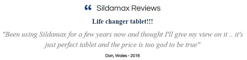 Sildamax Testimonial