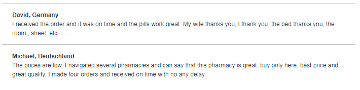Trust Pharmacy Customer Testimonials