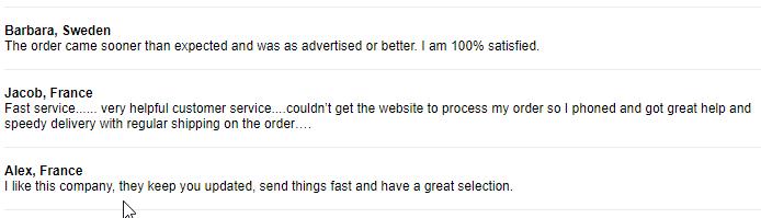 Cheap Rx User Testimonials