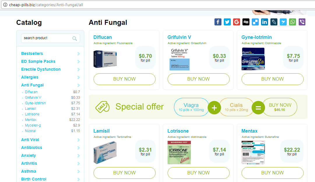 One of Cheap Pills Domains